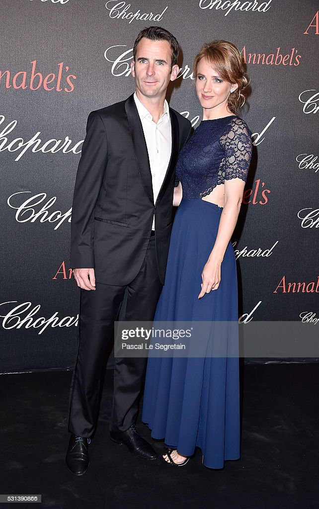 <a gi-track='captionPersonalityLinkClicked' href=/galleries/search?phrase=Romain+Dumas&family=editorial&specificpeople=805197 ng-click='$event.stopPropagation()'>Romain Dumas</a> and wife attend the Chopard Gent's Party at Annabel's in Cannes during the 69th Cannes Film Festival on May 14, 2016 in Cannes, France.