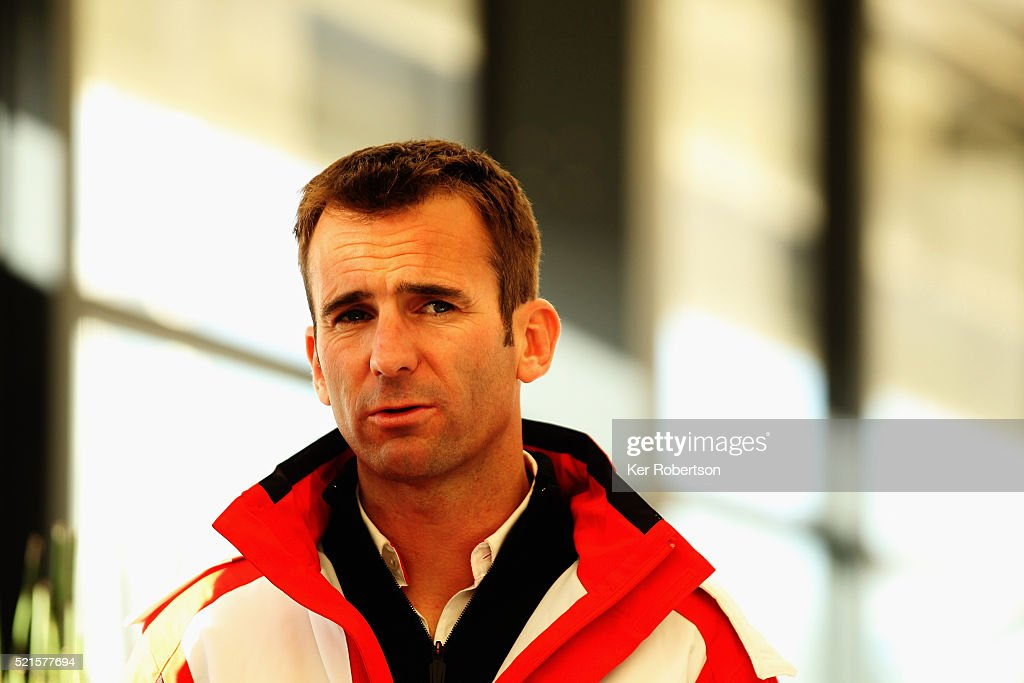 <a gi-track='captionPersonalityLinkClicked' href=/galleries/search?phrase=Romain+Dumas&family=editorial&specificpeople=805197 ng-click='$event.stopPropagation()'>Romain Dumas</a> of France and Porsche Team 919 Hybrid talks to the media during previews the FIA World Endurance Championship Six Hours of Silverstone race at the Silverstone Circuit on April 16, 2016 in Northampton, England.