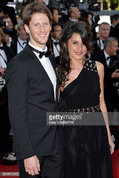 Romain Grosjean and Marion Jolles arrive at the Killing Them Softly Premiere during the 65th Cannes Film Festival