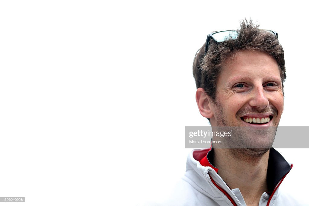 <a gi-track='captionPersonalityLinkClicked' href=/galleries/search?phrase=Romain+Grosjean&family=editorial&specificpeople=4858519 ng-click='$event.stopPropagation()'>Romain Grosjean</a> of France and Haas F1 in the Paddock during practice for the Formula One Grand Prix of Russia at Sochi Autodrom on April 29, 2016 in Sochi, Russia.