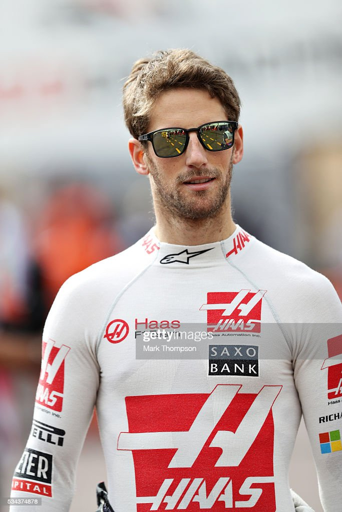 <a gi-track='captionPersonalityLinkClicked' href=/galleries/search?phrase=Romain+Grosjean&family=editorial&specificpeople=4858519 ng-click='$event.stopPropagation()'>Romain Grosjean</a> of France and Haas F1 walks to the pits ahead of practice for the Monaco Formula One Grand Prix at Circuit de Monaco on May 26, 2016 in Monte-Carlo, Monaco.
