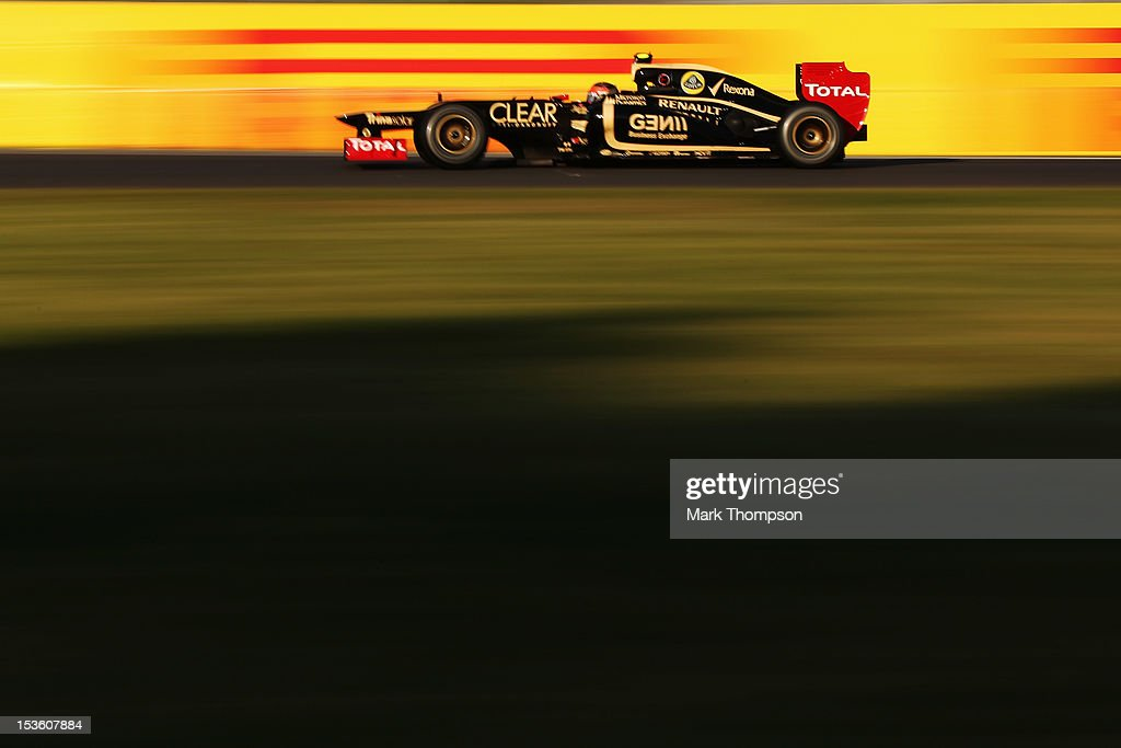 Romain Grosjean of France and Lotus drives during the Japanese Formula One Grand Prix at the Suzuka Circuit on October 7, 2012 in Suzuka, Japan.