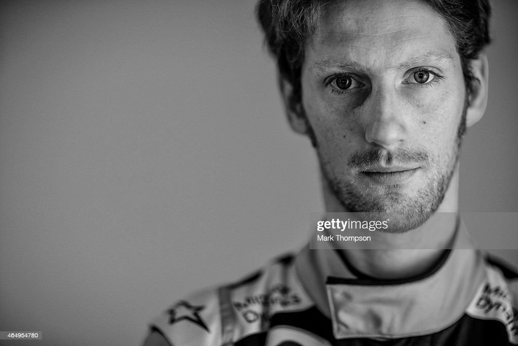 <a gi-track='captionPersonalityLinkClicked' href=/galleries/search?phrase=Romain+Grosjean&family=editorial&specificpeople=4858519 ng-click='$event.stopPropagation()'>Romain Grosjean</a> of France and Lotus poses for a portrait during day three of Formula One Winter Testing at Circuit de Catalunya on February 21, 2015 in Montmelo, Spain.