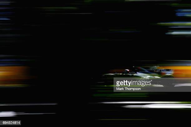 Romain Grosjean of France driving the Haas F1 Team HaasFerrari VF17 Ferrari on track during final practice for the Canadian Formula One Grand Prix at...