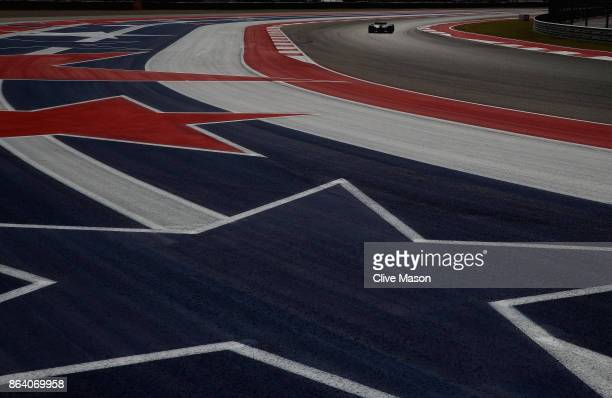 Romain Grosjean of France driving the Haas F1 Team HaasFerrari VF17 Ferrari on track during practice for the United States Formula One Grand Prix at...
