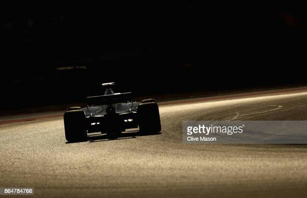 Romain Grosjean of France driving the Haas F1 Team HaasFerrari VF17 Ferrari on track during qualifying for the United States Formula One Grand Prix...