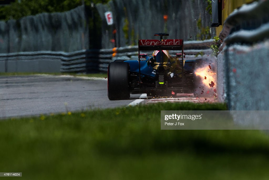 <a gi-track='captionPersonalityLinkClicked' href=/galleries/search?phrase=Romain+Grosjean&family=editorial&specificpeople=4858519 ng-click='$event.stopPropagation()'>Romain Grosjean</a> of Lotus Formula One Team and France during qualifying for the Canadian Formula One Grand Prix at Circuit Gilles Villeneuve on June 6, 2015 in Montreal, Canada.