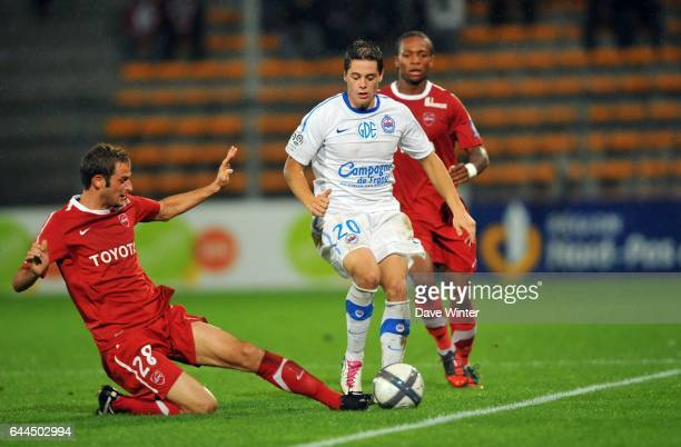 Romain HAMOUMA / Gregory PUJOL Valenciennes / Caen 8e journee Ligue 1 Photo Dave Winter / Icon Sport