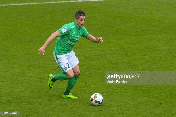 Romain Hamouma of Saint Etienne during the French Ligue 1 match between Saint Etienne and Metz at Stade GeoffroyGuichard on March 12 2017 in...