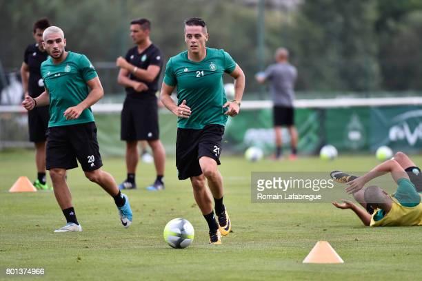 Romain Hamouma of Saint Etienne during the training session of AS SaintEtienne on June 26 2017 in SaintEtienne France