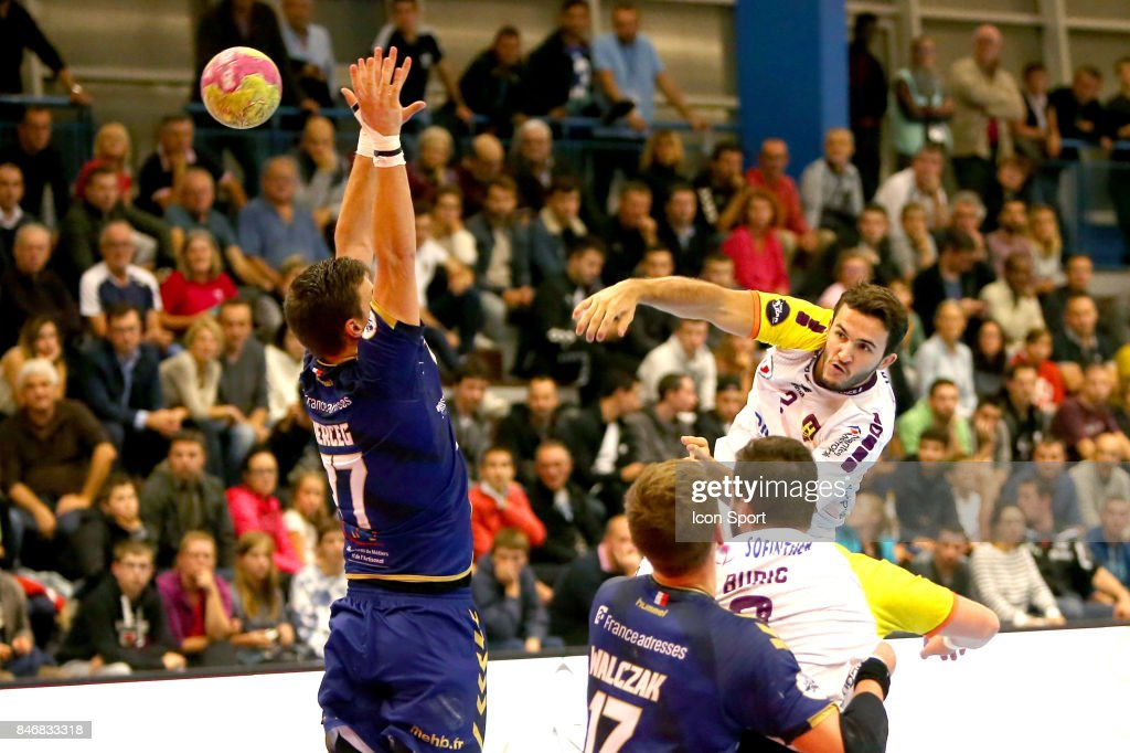 Romain Lagarde of Nantes during Lidl Star Ligue match between Massy Essonne Handball and HBC Nantes on September 13, 2017 in Massy, France.