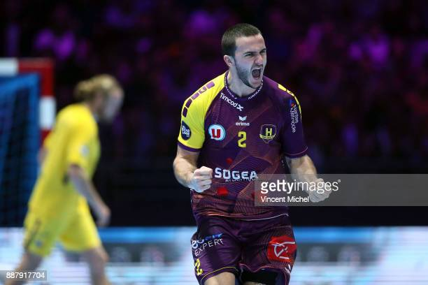 Romain Lagarde of Nantes during the Lidl Starligue match between Nantes and Paris Saint Germain PSG on December 7 2017 in Nantes France