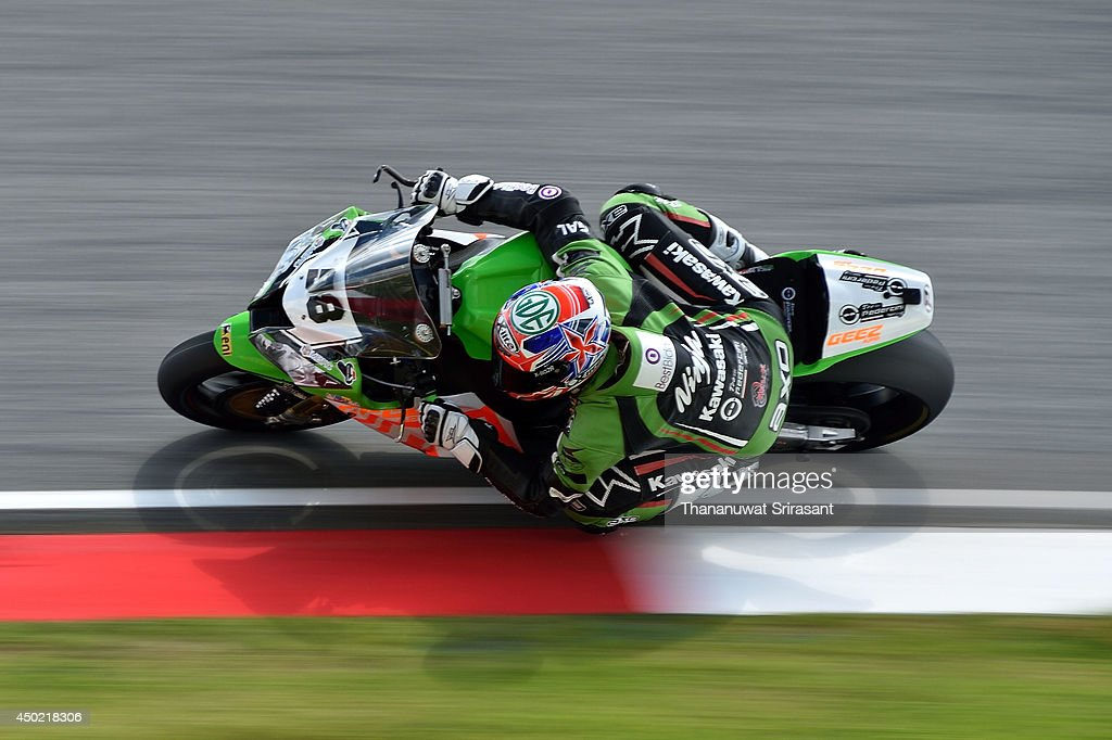 Romain Lanusse of France No.98 and TEAM PEDERCINI with Kawasaki ZX-10R EVO rides during the third practice of round six FIM Superbike World Championship at Sepang Circuit on June 7, 2014 in Kuala Lumpur, Malaysia.