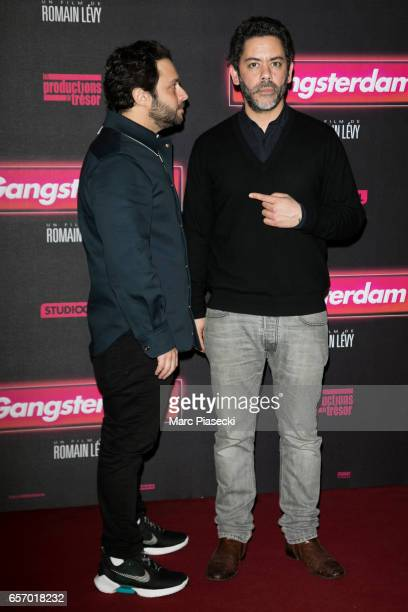 Romain Levy and Manu Payet attend the 'Gangsterdam' Premiere at Le Grand Rex on March 23 2017 in Paris France