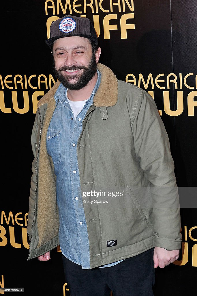 Romain Levy attends the 'American Bluff' Paris Premiere at Cinema UGC Normandie on February 3, 2014 in Paris, France.