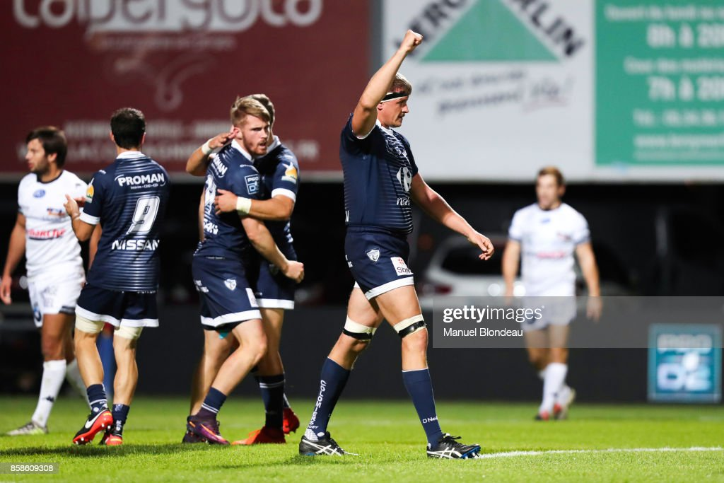 Romain Memain of Colomiers during the Pro D2 match between Colomiers and Vannes on October 6, 2017 in Colomiers, France.