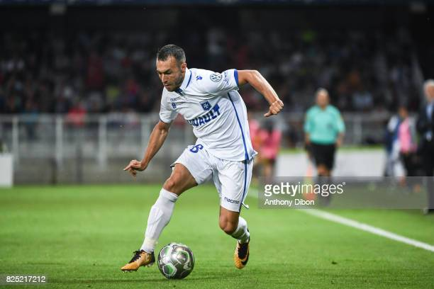 Romain Philippoteaux of Auxerre during the French Ligue 2 match between match between Auxerre and Lens at Stade Abbe Deschamps on July 31 2017 in...