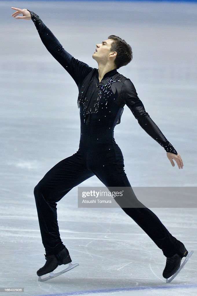 Romain Ponsart of France competes in the men's free program during day two of the ISU World Team Trophy at Yoyogi National Gymnasium on April 12, 2013 in Tokyo, Japan.