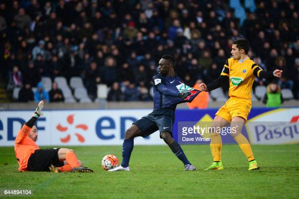Romain SAMSON / Jean Kevin AUGUSTIN / Aurelien GORET Wasquehal / PSG 32es Coupe de France Photo Dave Winter / Icon Sport