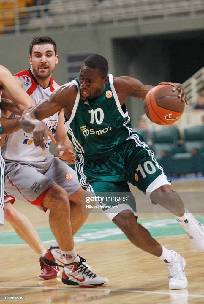 <a gi-track='captionPersonalityLinkClicked' href=/galleries/search?phrase=Romain+Sato&family=editorial&specificpeople=220873 ng-click='$event.stopPropagation()'>Romain Sato</a>, #10 of Panathinaikos Athens in action during the 2010-2011 Turkish Airlines Euroleague Top 16 Date 5 game between Panathinaikos Athens vs Lietuvos Rytas at OAKA on February 23, 2011 in Athens, Greece.