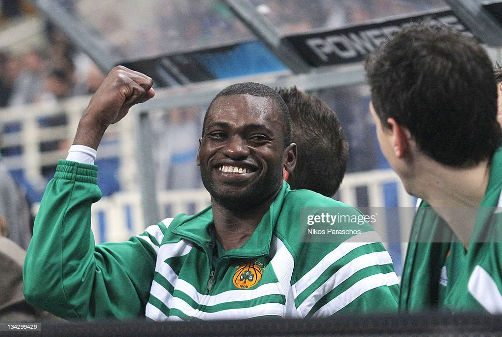 <a gi-track='captionPersonalityLinkClicked' href=/galleries/search?phrase=Romain+Sato&family=editorial&specificpeople=220873 ng-click='$event.stopPropagation()'>Romain Sato</a>, #10 of Panathinaikos Athens reactsduring the 2011-2012 Turkish Airlines Euroleague Regular Season Game Day 7 between Panathinaikos Athens v KK Zagreb Croatia Osiguranje at OAKA on November 30, 2011 in Athens, Greece.