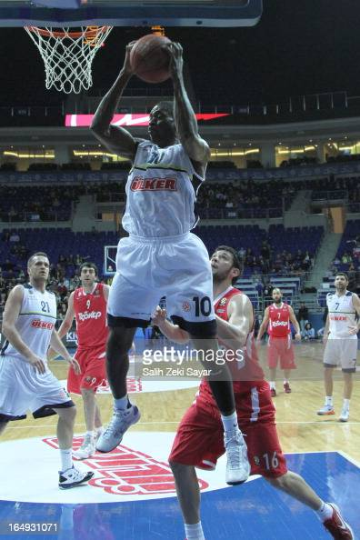 Romain Sato of Fenerbahce Ulker in action during the 20122013 Turkish Airlines Euroleague Top 16 Date 13 between Fenerbahce Ulker Istanbul v...