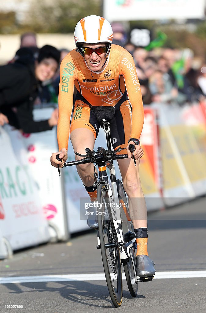 Romain Sicard of France and Team Euskaltel-Euskadi rides during the prologue of 2.9 km of the 2013 Paris-Nice on March 3, 2013 in Houilles, Yvelines, France.