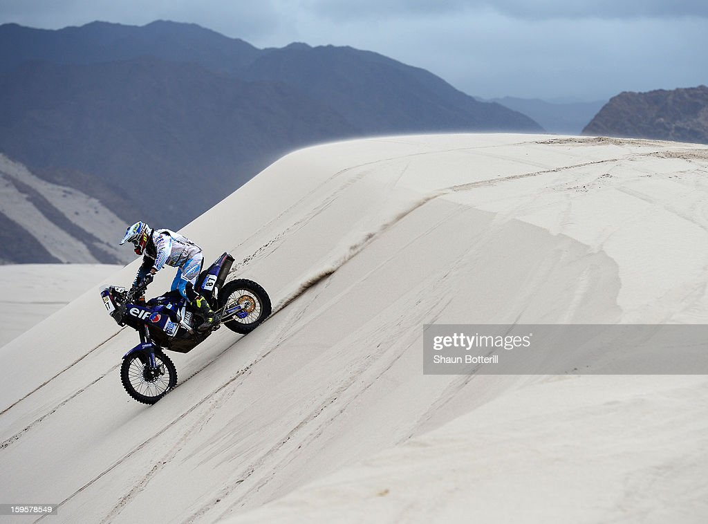 Romain Souvignet of team Casteu Adventure competes in stage 11 from La Rioja to Fiambala during the 2013 Dakar Rally on January 16, 2013 in La Rioja, Argentina.