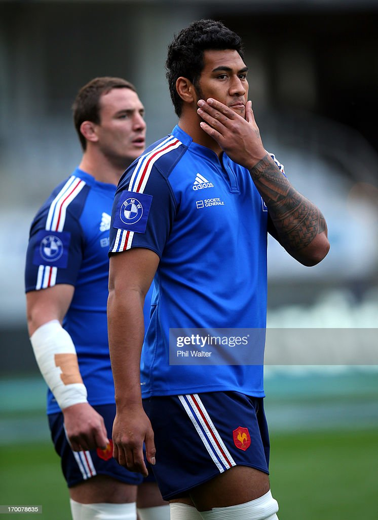 Romain Taofifenua of France looks on during the France captain's run at Eden Park on June 7, 2013 in Auckland, New Zealand.