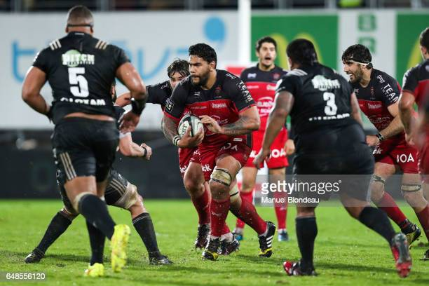 Romain Taofifenua of Toulon during the French Top 14 match between Brive and Toulon on March 4 2017 in Brive France