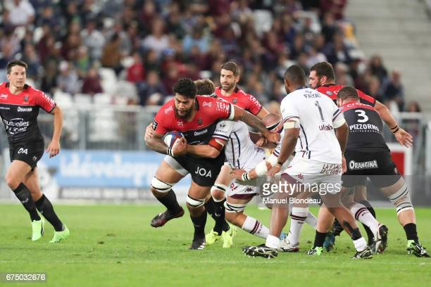 Romain Taofifenua of Toulon during the French Top 14 match between Bordeaux Begles and Toulon on April 29 2017 in Bordeaux France