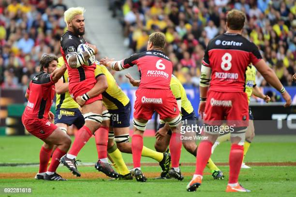 Romain Taofifenua of Toulon during the the Top 14 Final between RC Toulon and Clermont Auvergne at Stade de France on June 4 2017 in Paris France
