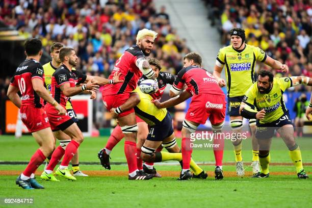 Romain Taofifenua of Toulon during the Top 14 Final between RC Toulon and Clermont Auvergne at Stade de France on June 4 2017 in Paris France