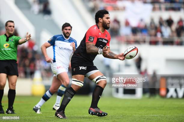 Romain Taofifenua of Toulon during the Top 14 match between Rc Toulon and Castres Olympique on April 15 2017 in Toulon France