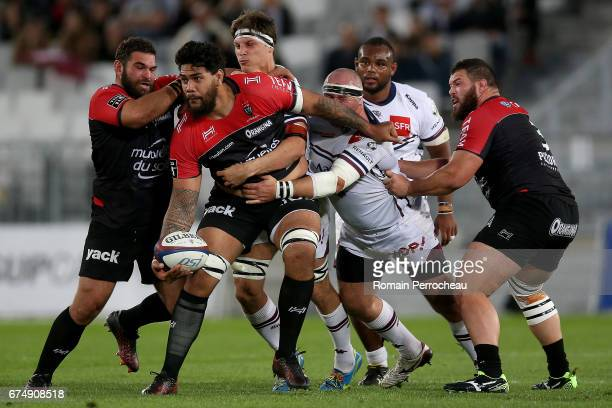 Romain Taofifenua of Toulon in action during the French Top 14 union match between Union Bordeaux Begles and Toulon RC at stade Matmut Atlantique at...