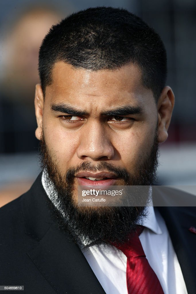 Romain Taofifenua of Toulon looks on from the stands during the European Champions Cup match between Racing Club de Toulon (RCT) and Bath Rugby at Stade Mayol on January 10, 2016 in Toulon, France.