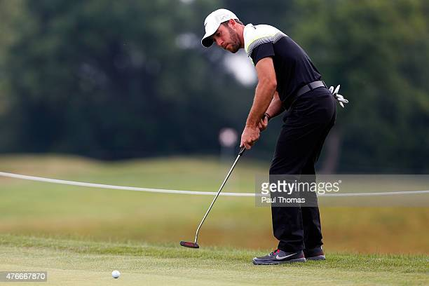 Romain Wattel of France putts during the Lyoness Open day one at the Diamond Country Club on June 11 2015 in Atzenbrugg Austria