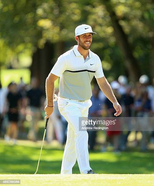 Romain Wattel of France smiles on the second hole during the final round of the 72nd Open d'Italia at Golf Club Milano on September 20 2015 in Monza...