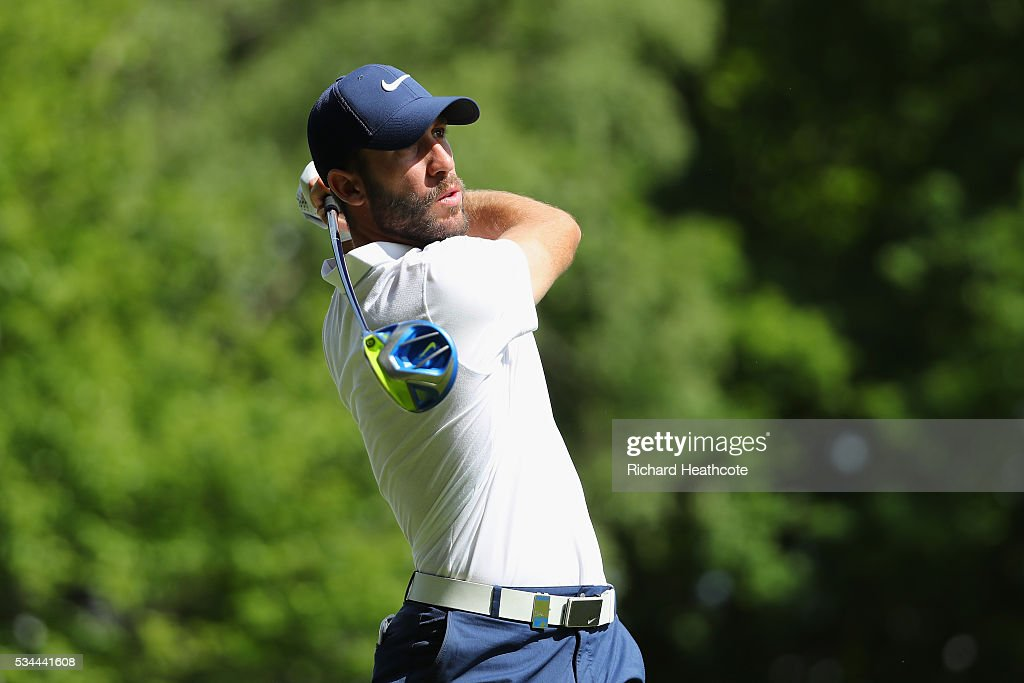 <a gi-track='captionPersonalityLinkClicked' href=/galleries/search?phrase=Romain+Wattel&family=editorial&specificpeople=5507914 ng-click='$event.stopPropagation()'>Romain Wattel</a> of France tees off on the 3rd hole during day one of the BMW PGA Championship at Wentworth on May 26, 2016 in Virginia Water, England.