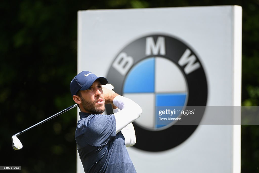 <a gi-track='captionPersonalityLinkClicked' href=/galleries/search?phrase=Romain+Wattel&family=editorial&specificpeople=5507914 ng-click='$event.stopPropagation()'>Romain Wattel</a> of France tees off on the 5th hole during day four of the BMW PGA Championship at Wentworth on May 29, 2016 in Virginia Water, England.