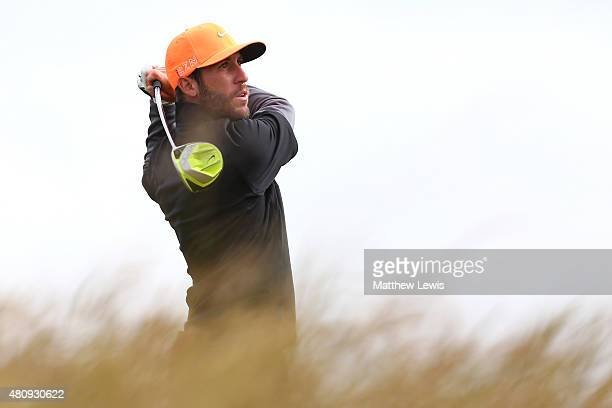 Romain Wattel of France tees off on the 6th hole during the first round of the 144th Open Championship at The Old Course on July 16 2015 in St...