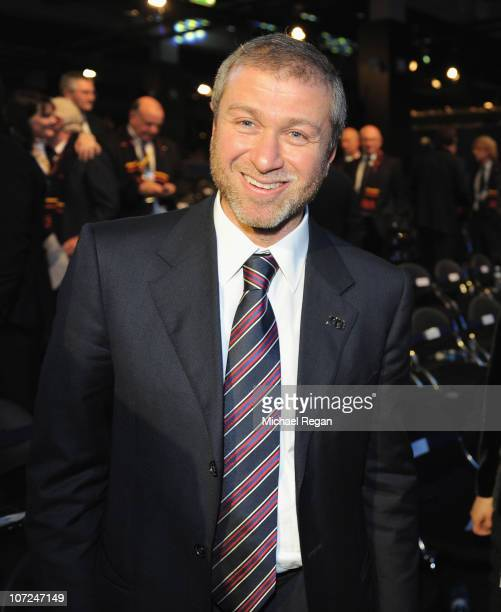 Roman Abramovich of the winning Russia bid during the FIFA World Cup 2018 2022 Host Announcement on December 2 2010 in Zurich Switzerland