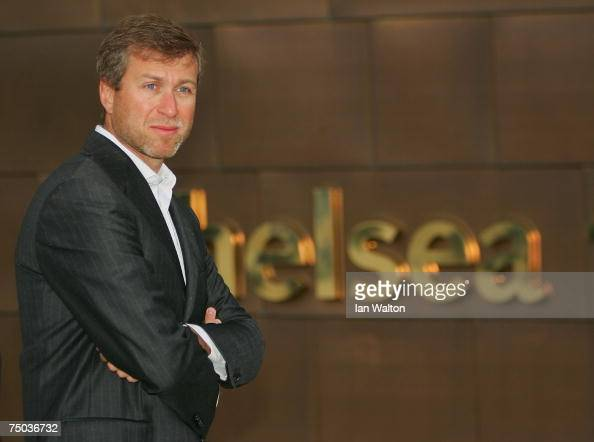 Roman Abramovich owner of Chelsea poses during the Chelsea Training Ground Official Opening at Chelsea's training ground on July 5 2007 in Cobham...