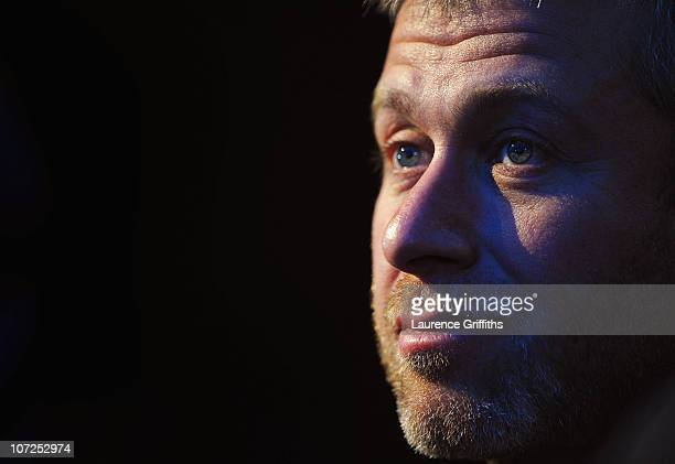Roman Abramovich sits amongst the Russian Bid Team after winning the bid to host the 2018 Tournament during the FIFA World Cup 2018 2022 Host...