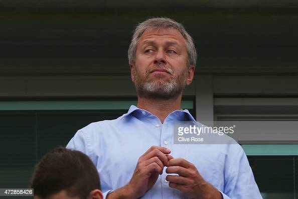 Roman Abramovich the Chelsea owner looks on during the Barclays Premier League match between Chelsea and Liverpool at Stamford Bridge on May 10 2015...