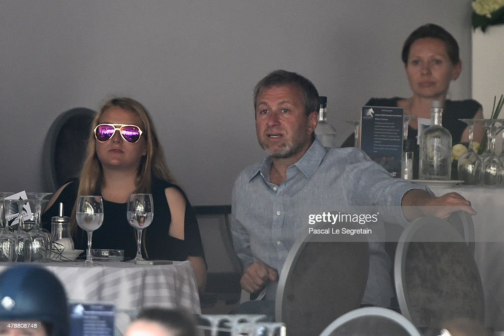 Roman Abramovitch and daughter Sofia attend the 10th International Monte-Carlo Jumping on June 27, 2015 in Monaco, Monaco.
