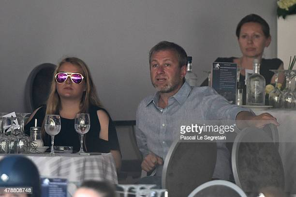 Roman Abramovitch and daughter Sofia attend the 10th International MonteCarlo Jumping on June 27 2015 in Monaco Monaco