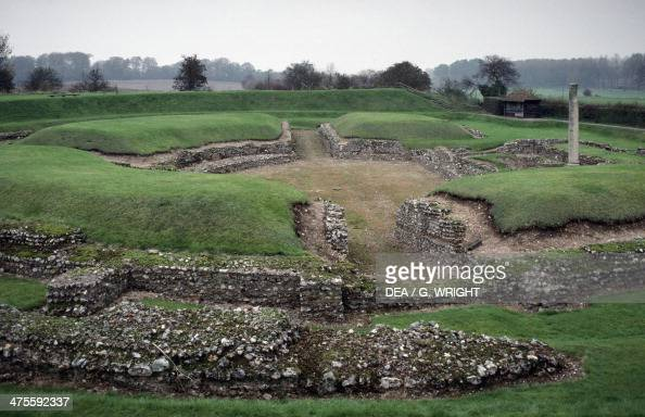 Roman amphitheatre in St Albans England United Kingdom Roman civilisation