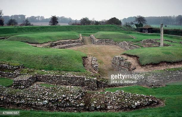 Roman amphitheatre in St Albans England United Kingdom Roman civilisation