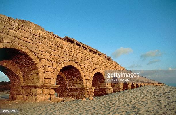 Roman aqueduct Caesarea Palestine Roman civilisation